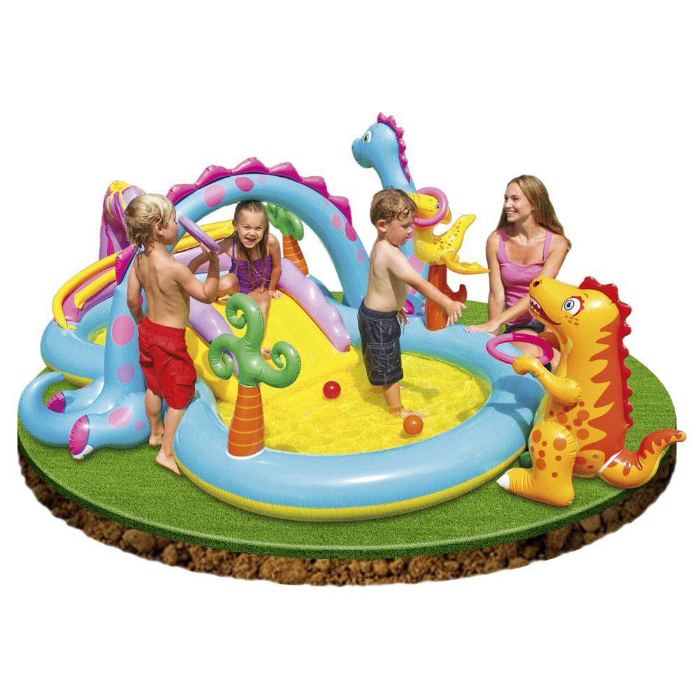 Aire de jeux dinoland play center intex pas cher en vente sur stock - Aire de jeux gonflable pas cher ...
