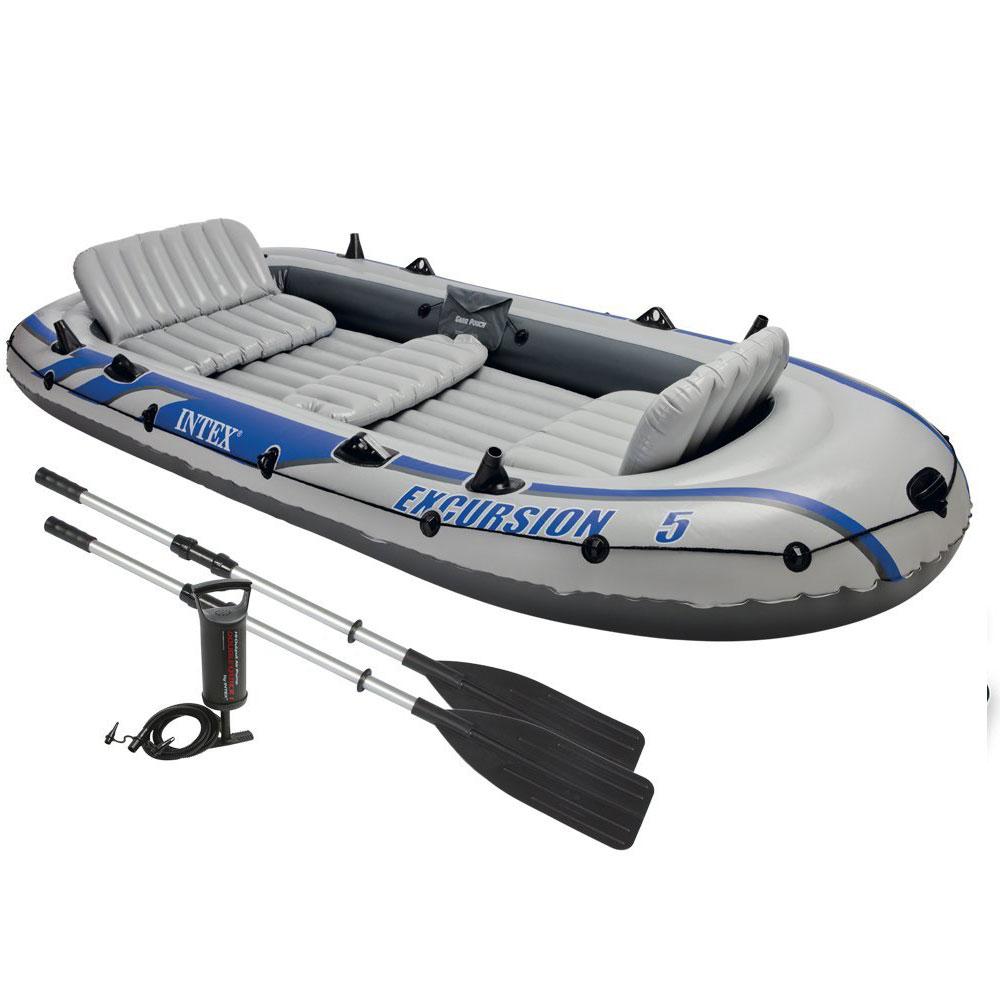 bateau gonflable intex excursion 5 2 avirons gonfleur. Black Bedroom Furniture Sets. Home Design Ideas