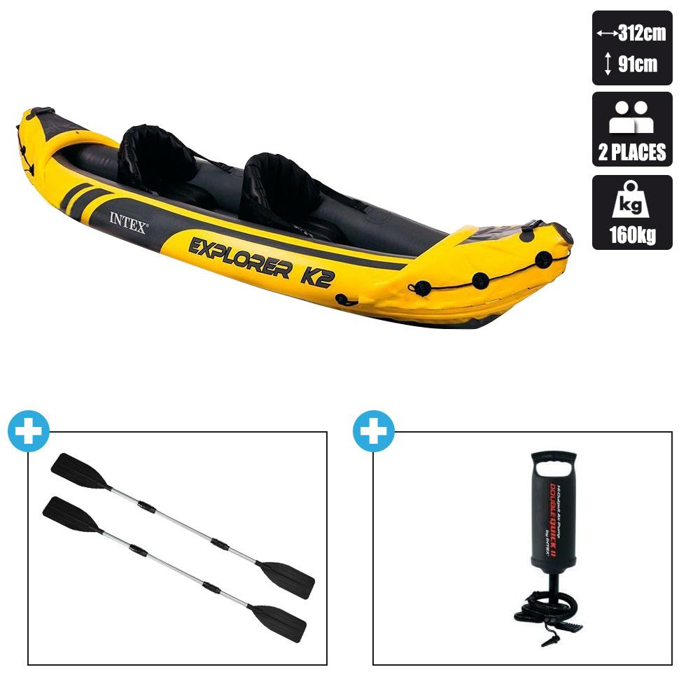 Kayak intex explorer k2 pas cher en vente sur stock - Kayak de mer 2 places ...