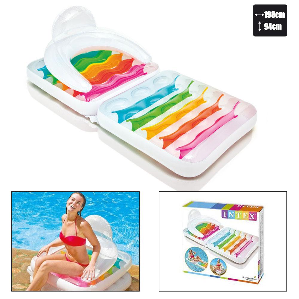 matelas fauteuil de piscine intex arc en ciel pas cher en vente sur stock. Black Bedroom Furniture Sets. Home Design Ideas