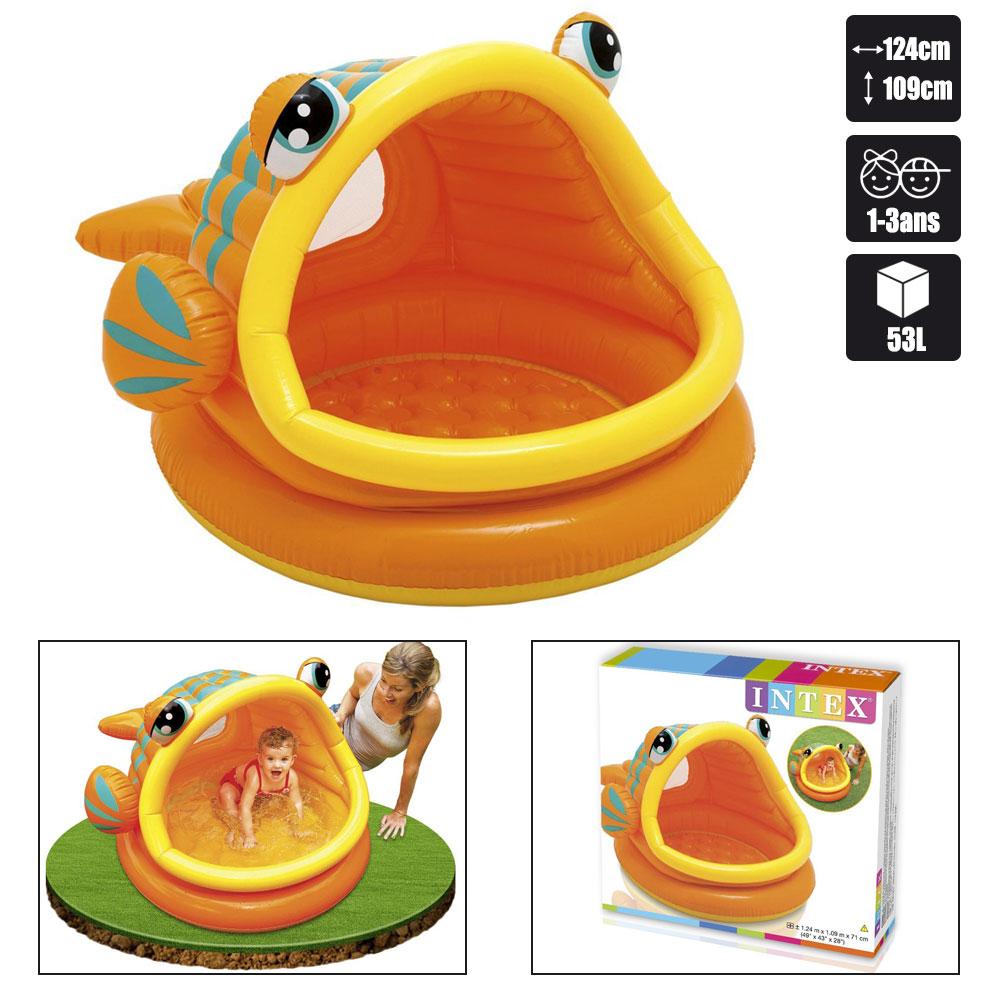 Piscine bebe intex poisson exotique pas cher en vente sur for Bebe dans piscine