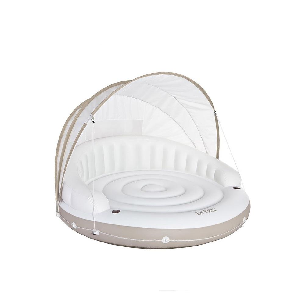 Plate forme gonflable lounge caraibes intex pas cher en - Matelas gonflable pour piscine pas cher ...
