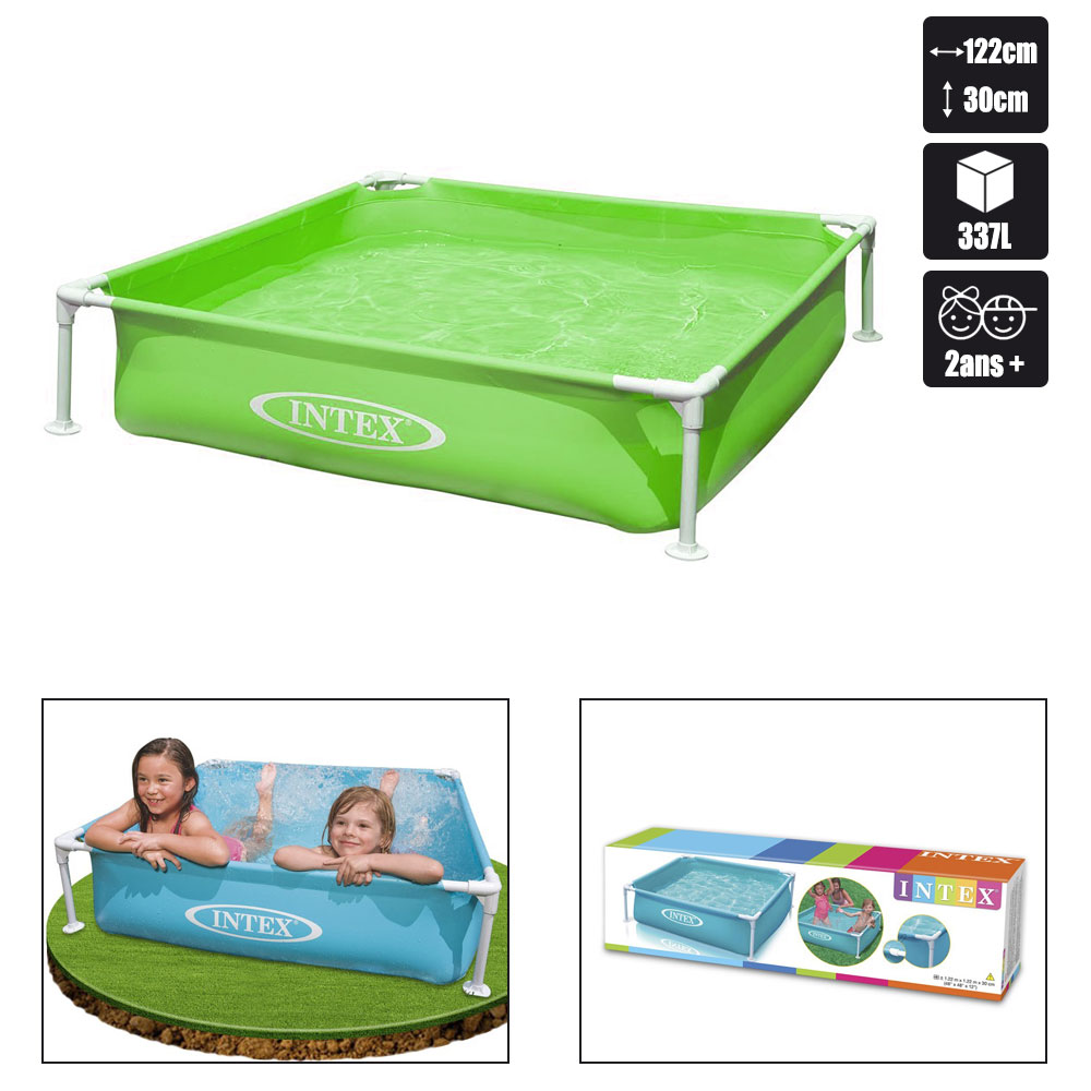 Piscine intex tubulaire 122 x 122 pas cher en vente sur for Piscine intex tubulaire en solde