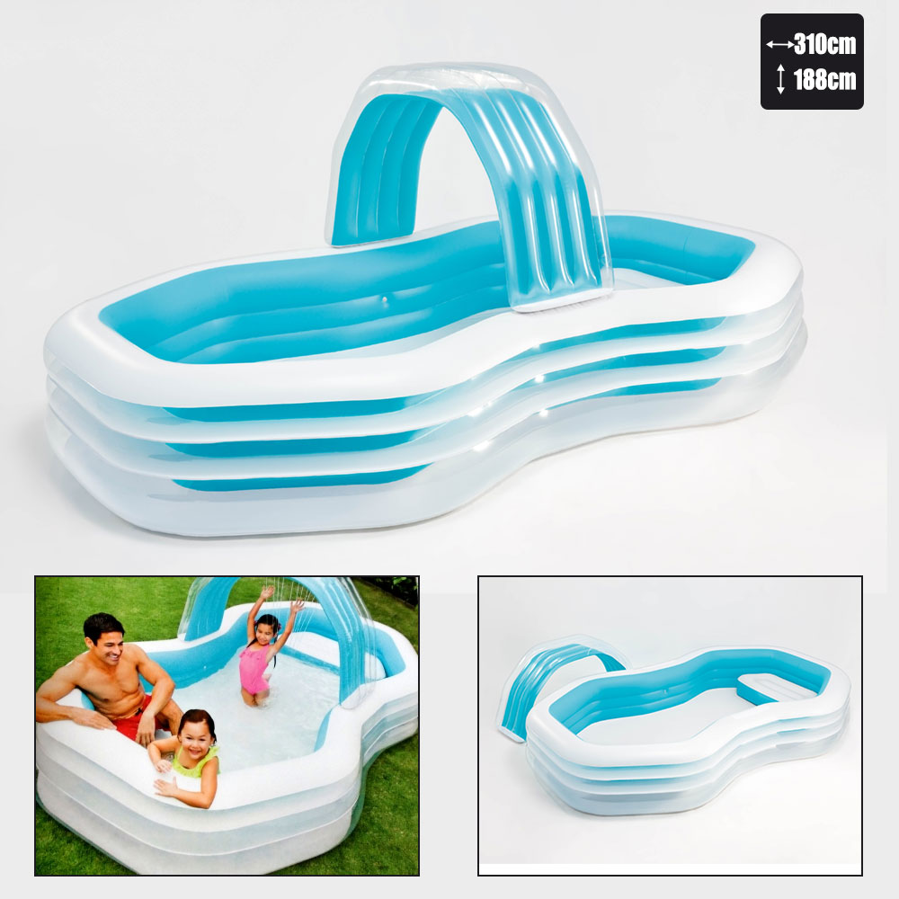 Piscine gonflable intex cabana pas cher en vente sur stock for Piscine gonflable intex