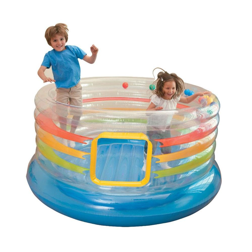 Aire de jeux gonflable intex ring bounce jump o lene pas cher en vente sur stock - Aire de jeux gonflable pas cher ...