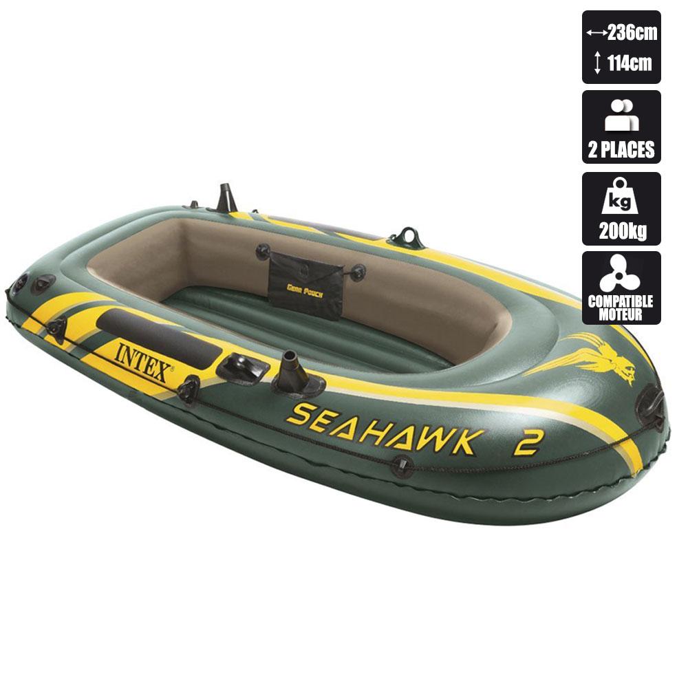 bateau gonflable intex seahawk 2 68346 pas cher en vente sur stock. Black Bedroom Furniture Sets. Home Design Ideas