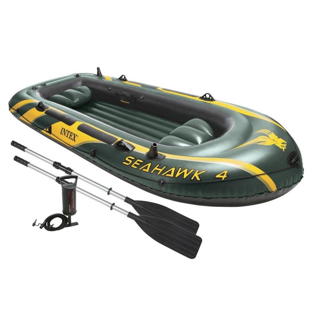 bateau gonflable intex seahawk 4 2 rames gonfleur pas cher en vente sur stock. Black Bedroom Furniture Sets. Home Design Ideas