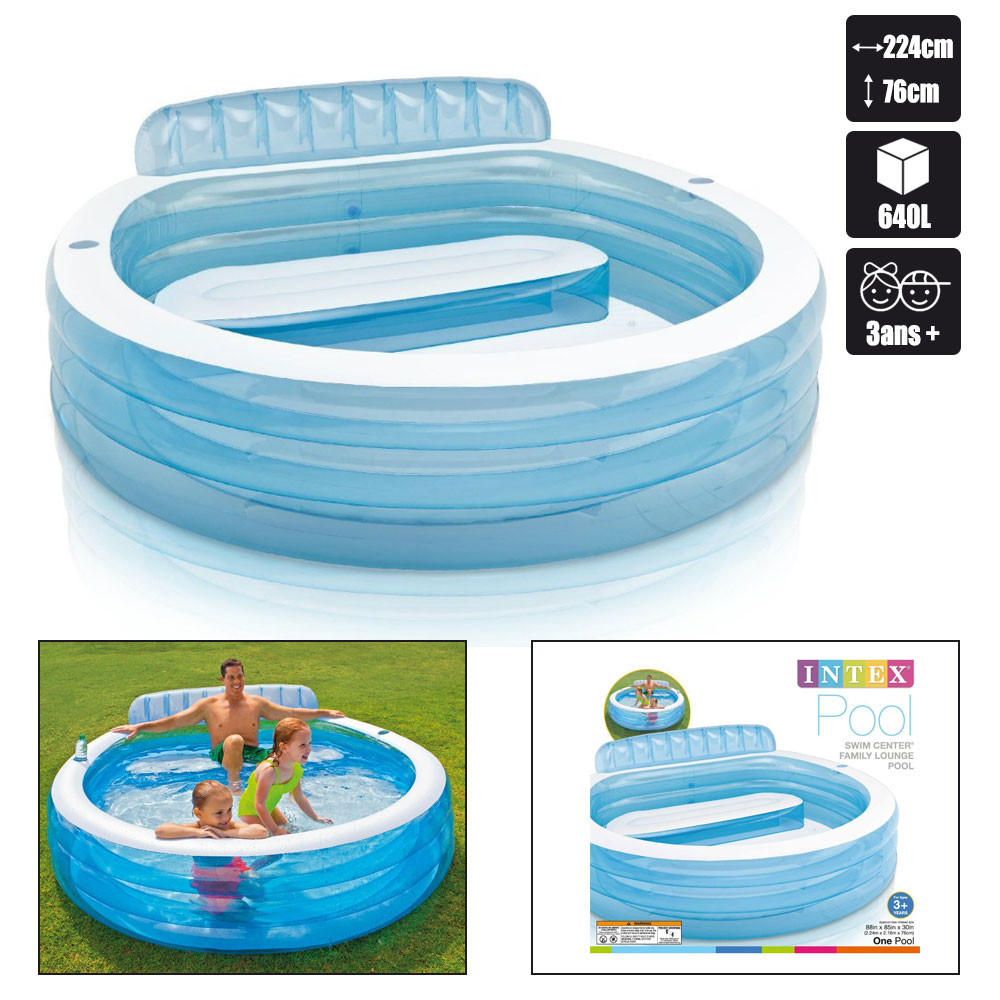 Piscine gonflable intex swim center family pas cher en for Piscine gonflable pas cher