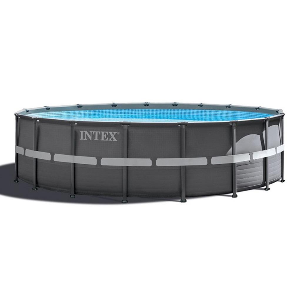 piscine tubulaire ronde intex ultra frame 5 49 x 1 32 m. Black Bedroom Furniture Sets. Home Design Ideas