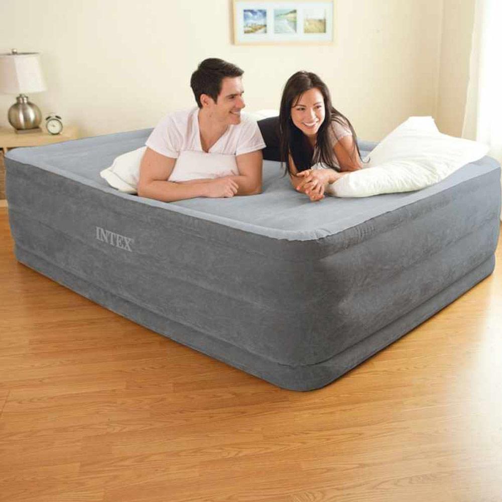 Matelas Gonflable Comfort Plush Fiber Tech 2 Places Intex 64418