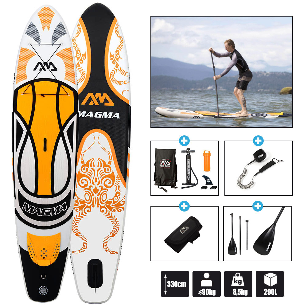 stand up paddle aqua marina magma 11 0 2017 pas cher en vente sur stock. Black Bedroom Furniture Sets. Home Design Ideas