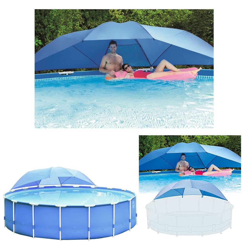 Ombrelle parasol pour piscine tubulaire de 3 66 5 49 m for Piscine intex tubulaire 3 66