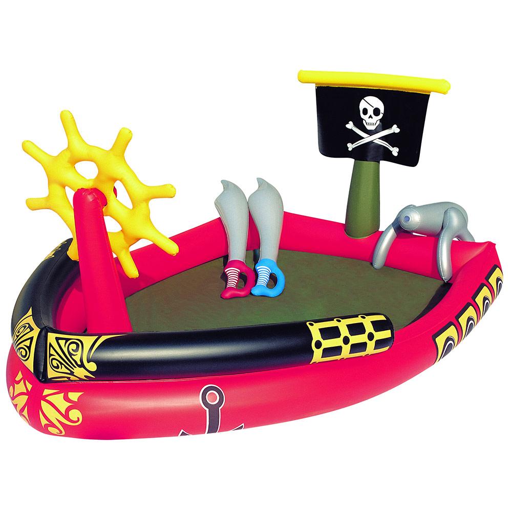Aire de jeux piscine bateau pirate bestway pas cher en vente sur stock - Aire de jeux gonflable pas cher ...