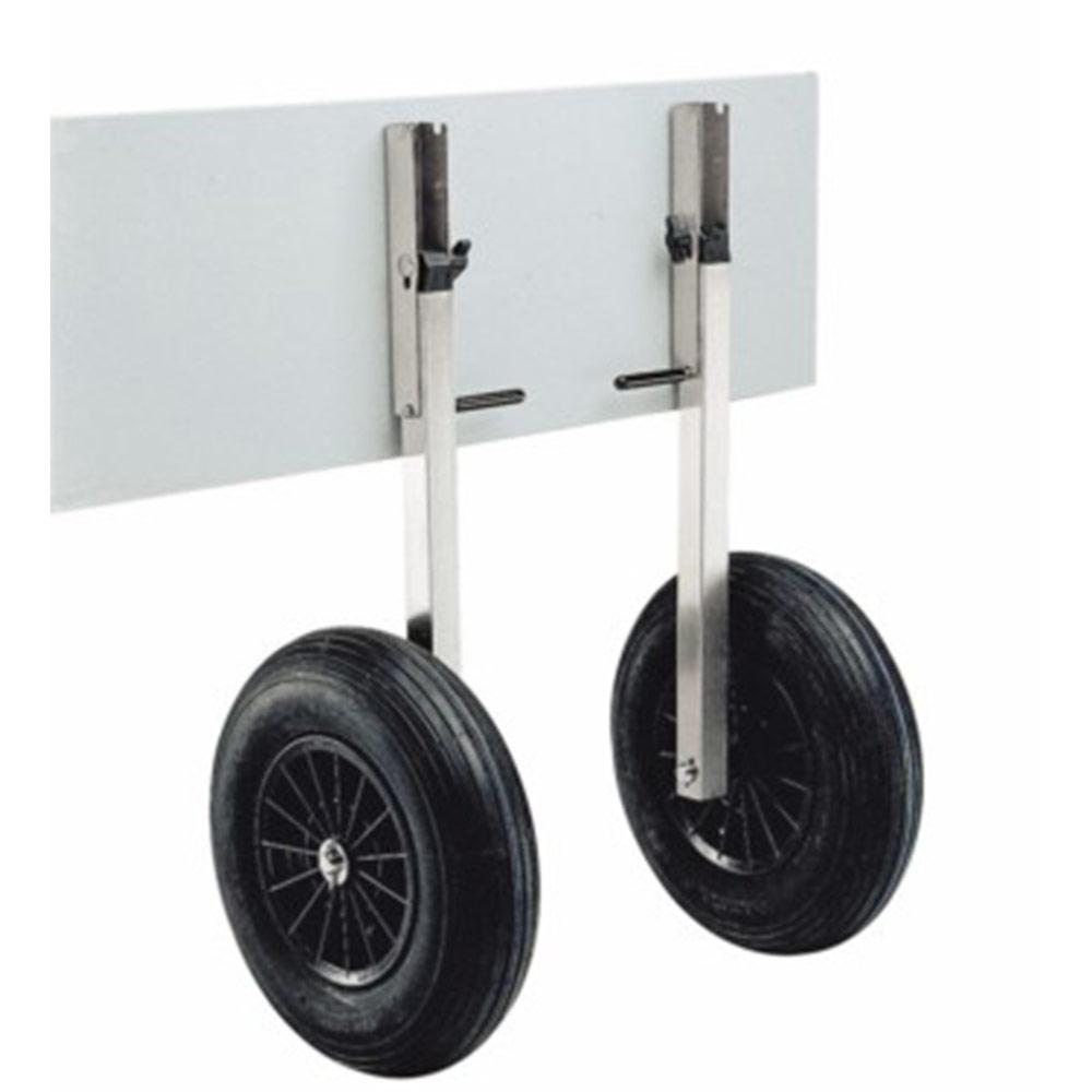 Roues de transport sur tube inox plastimo pour annexe - Bateau sur roues ...