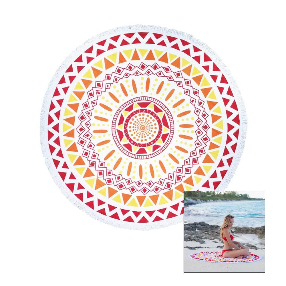 serviette ronde beach lulu the mayan pas cher en vente sur. Black Bedroom Furniture Sets. Home Design Ideas