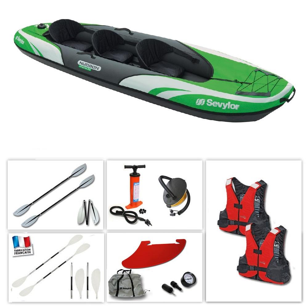 Kayak gonflable sevylor hudson premium pas cher en vente sur stock nautigam - Kayak gonflable pas cher ...