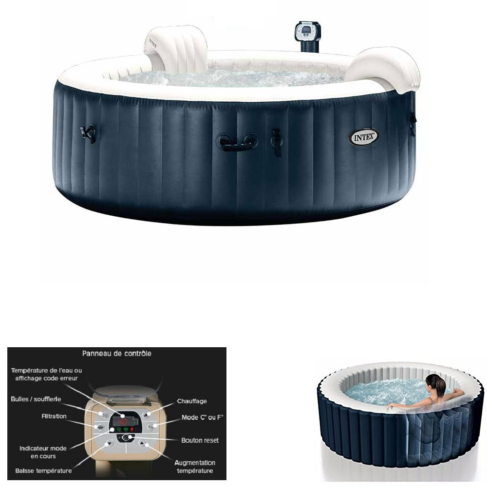 Spa gonflable intex pure spa plus bulles 4 places pas cher - Spa gonflable intex pas cher ...