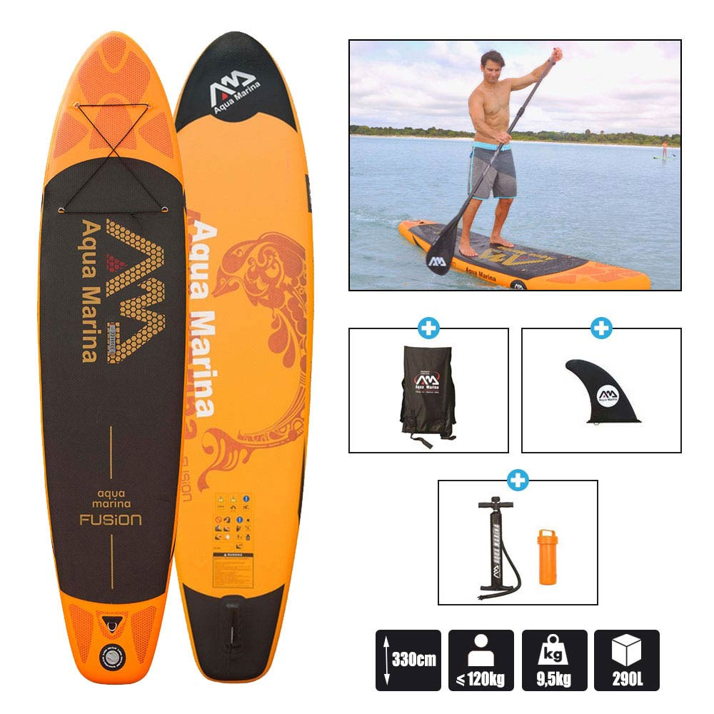 stand up paddle gonflable aquamarina fusion 11 0 pas cher en vente sur stock. Black Bedroom Furniture Sets. Home Design Ideas